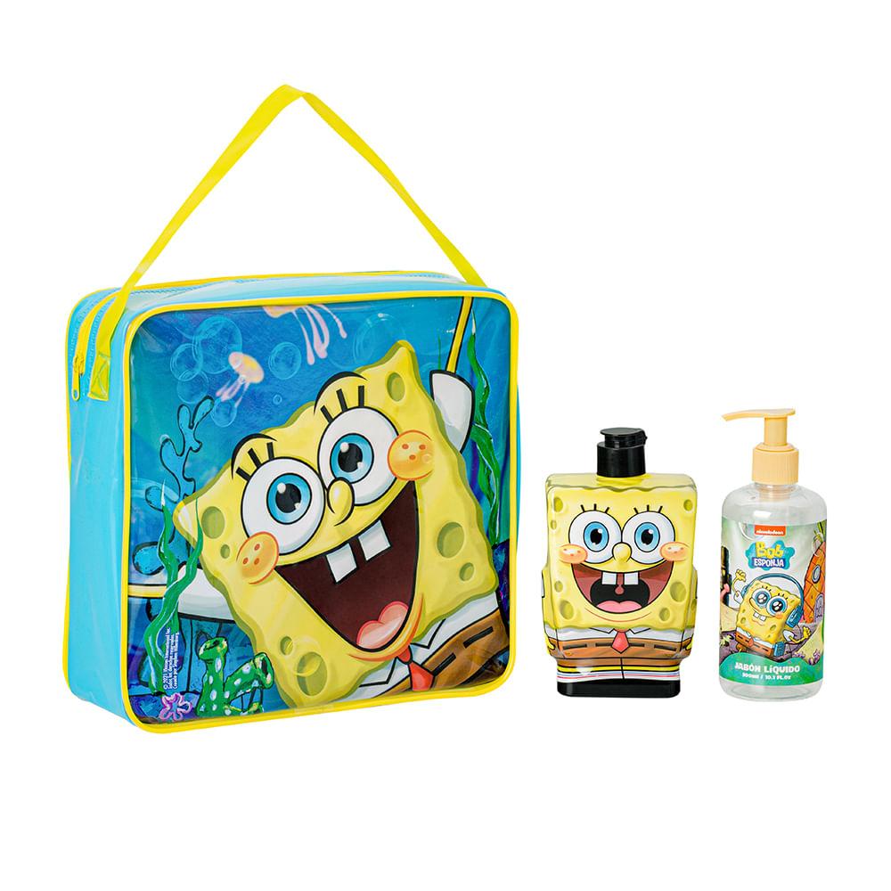 Caja 6 Unidades - Set Baño Shampoo + Jabón Líquido Bob Esponja
