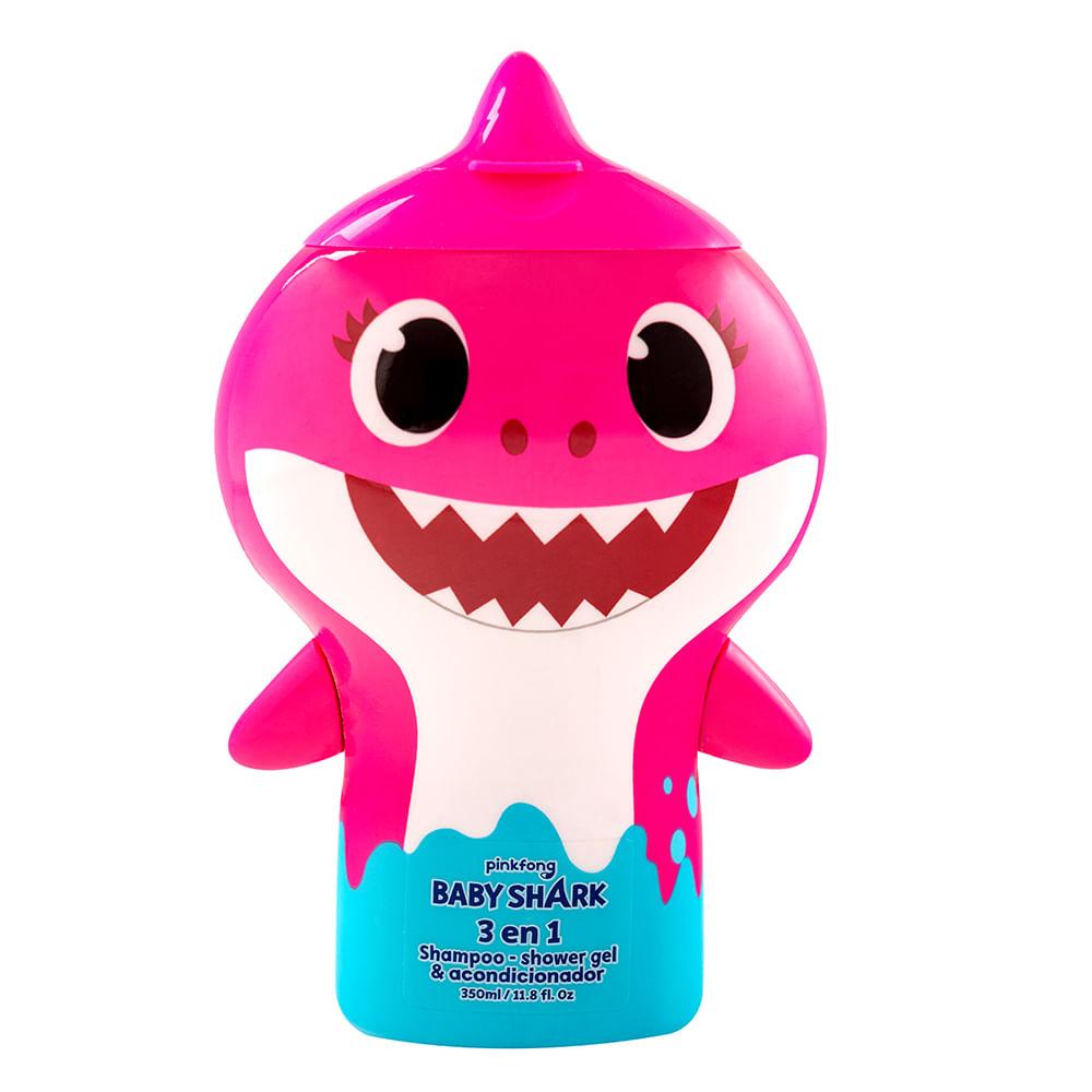Caja 12 Unidades - Shampoo 3 En 1 Baby Shark Mix 350 ml