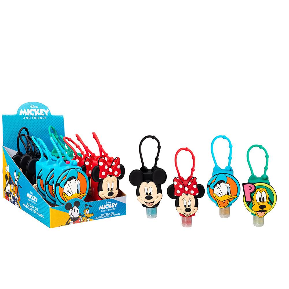 Caja 12 Unidades - Alcohol Gel Mickey y Amigos de Silicona 29 ml