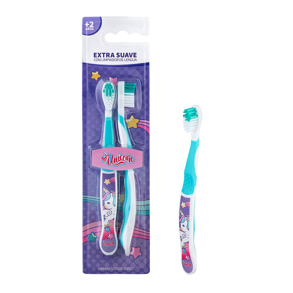 Caja 12 Unidades - Set 2 Cepillos Dental (Blister) Unicornio