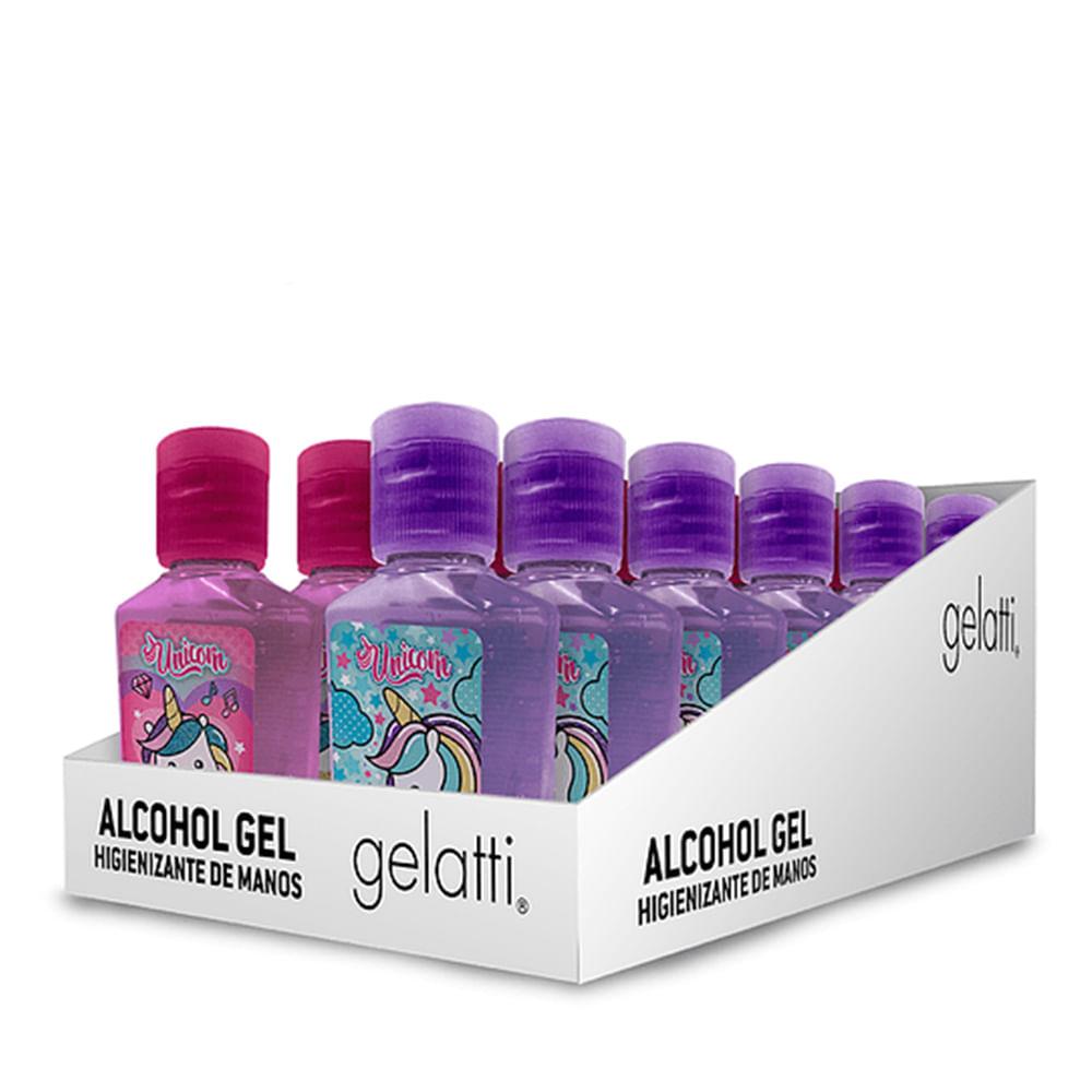 Caja 12 Unidades - Alcohol Gel Unicornio 59 ml
