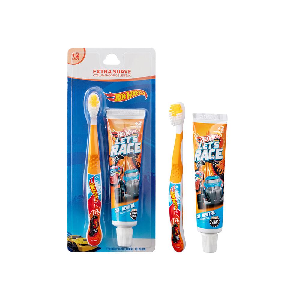 Caja 12 Unidades - Pasta Dientes 50 + Cepillo Dental Niño Blister Hotwheels y Paw Patrol